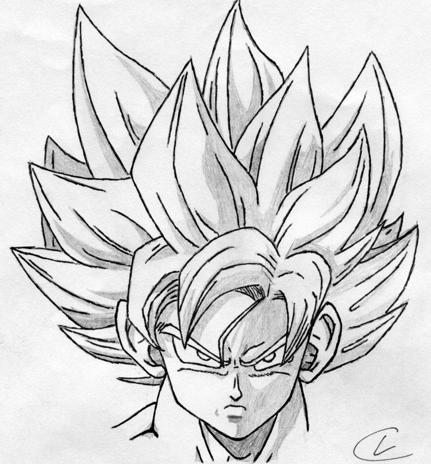 861x928 Super Saiyan Goku By Autonomousanomalies