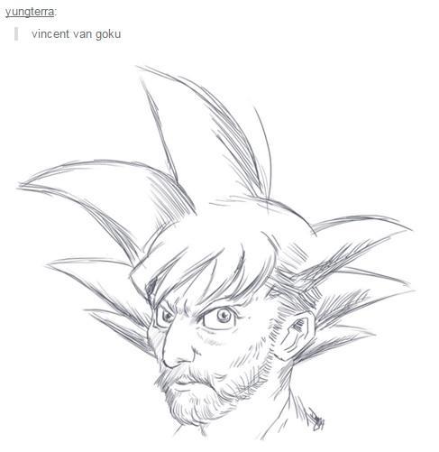 487x501 Vincent Van Goku Dragon Ball Know Your Meme