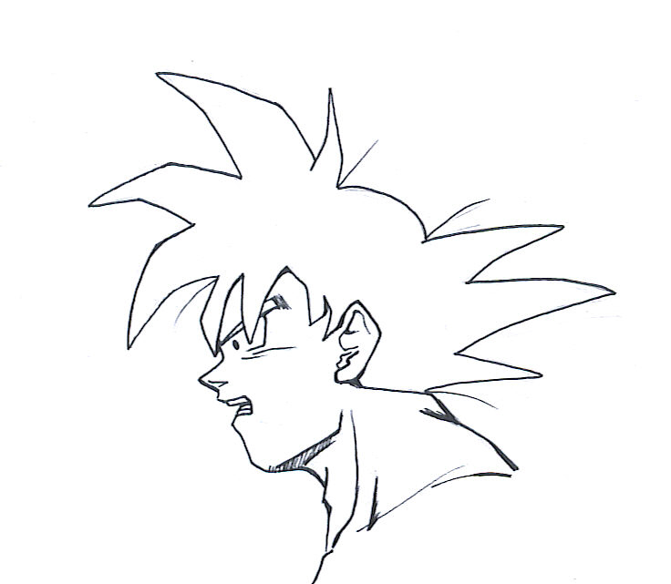 736x641 Goku Side View By Sanoo32