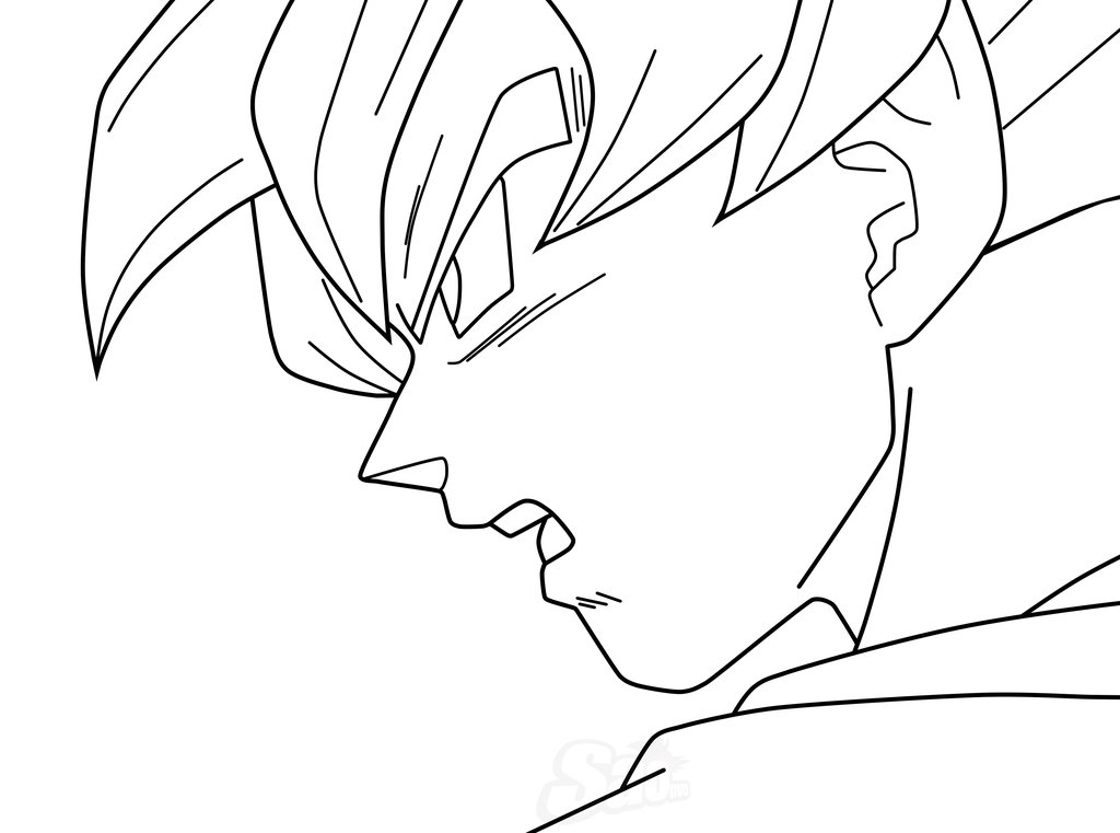 1024x761 Goku Ssj Blue Lineart By Saodvd On Lineart Dragon
