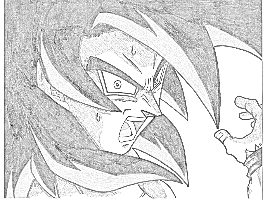 900x683 Goku Sketching Wiki Fandom Powered By Wikia
