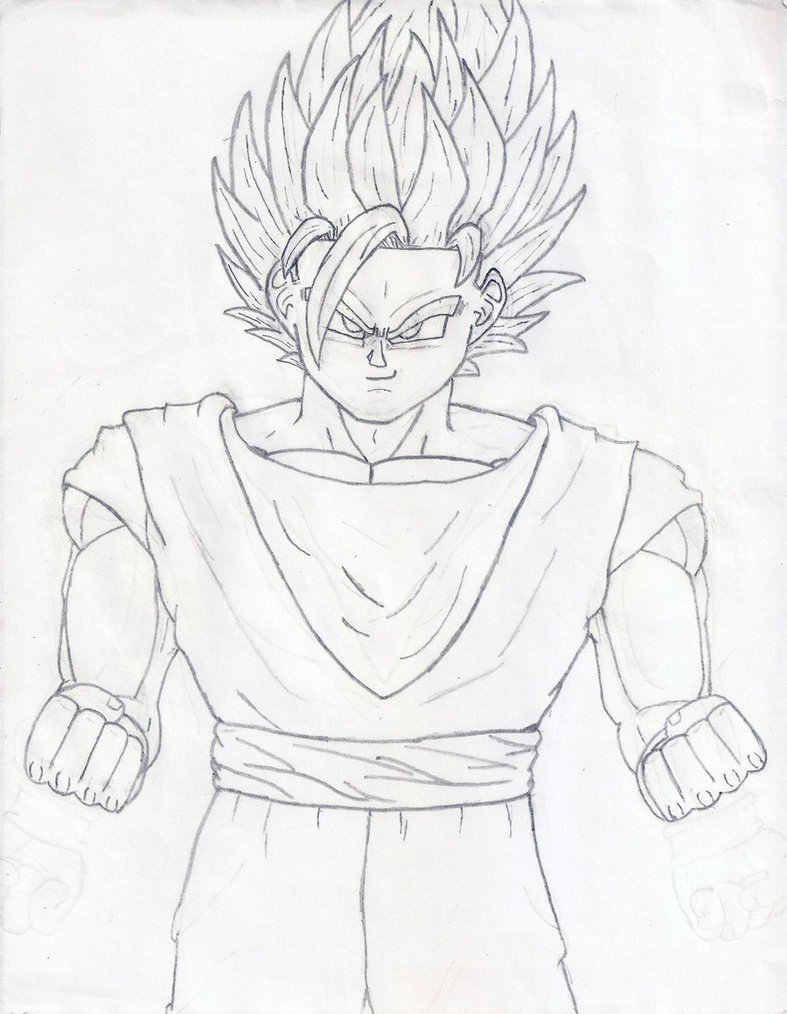 787x1014 Goku Ssj2 Sketch By Gokuevp