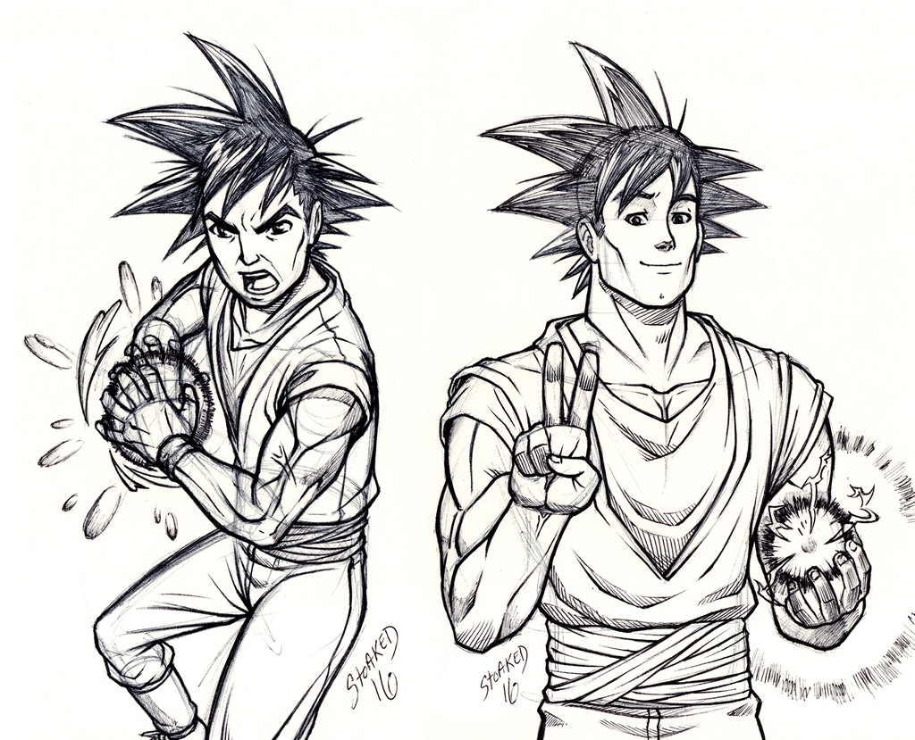 1024x829 Goku Sketches By Godsartist