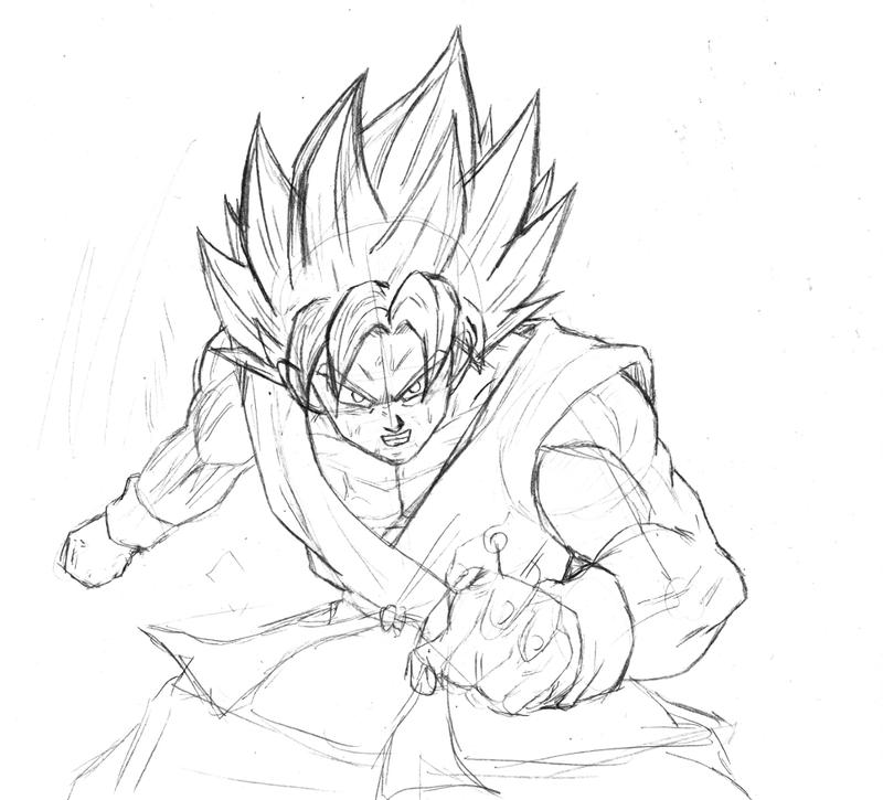 800x725 Goku Super Saiyan God Super Saiyan Sketch By Bl Sama