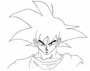 300x236 Goku Sketch B. By Jjss4