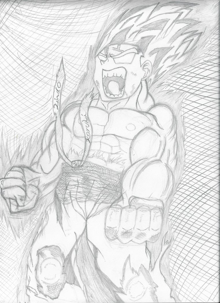 762x1048 My Sketch Of Super Saiyan Goku By Lindokorchi