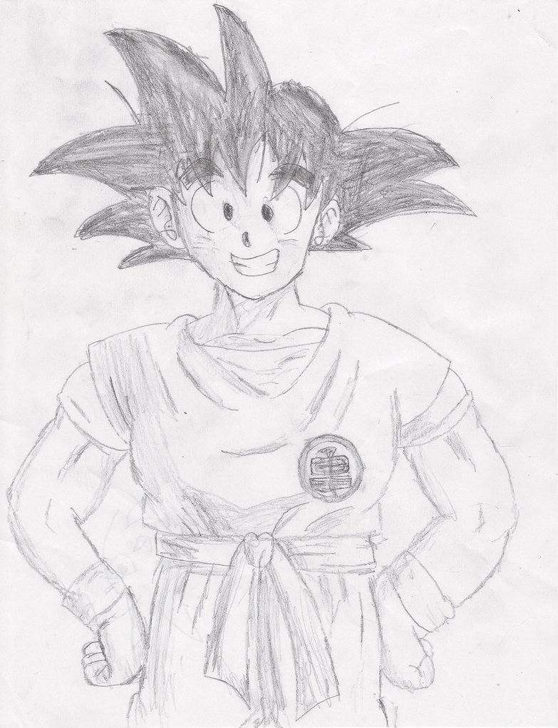 783x1020 Sketch Of Goku By Dapuffster