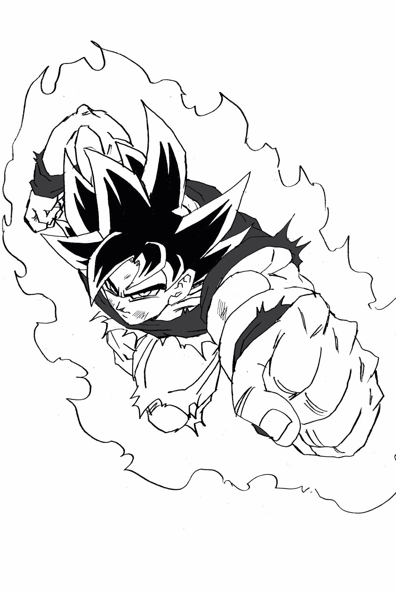 1368x2048 Ui Goku Sketch Dragonball Series Dragon Ball, Goku