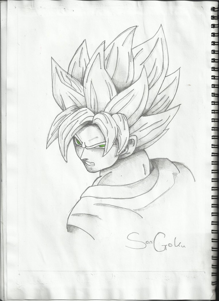 762x1048 Goku Sketch By Coolmodi