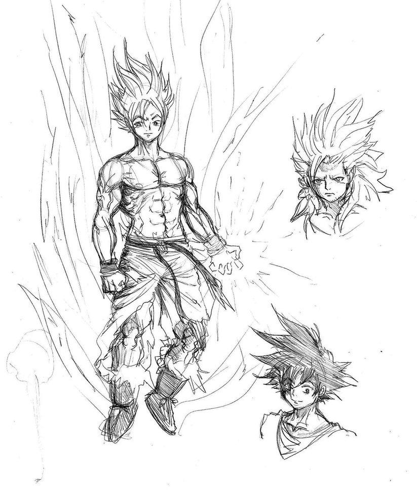823x970 Goku Sketch By Mtrok