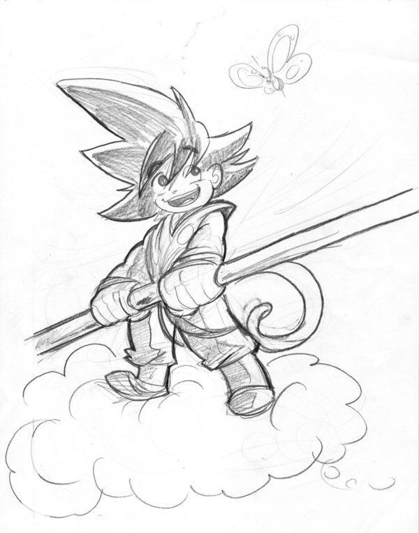 600x763 Lil Goku Sketch By Kross29