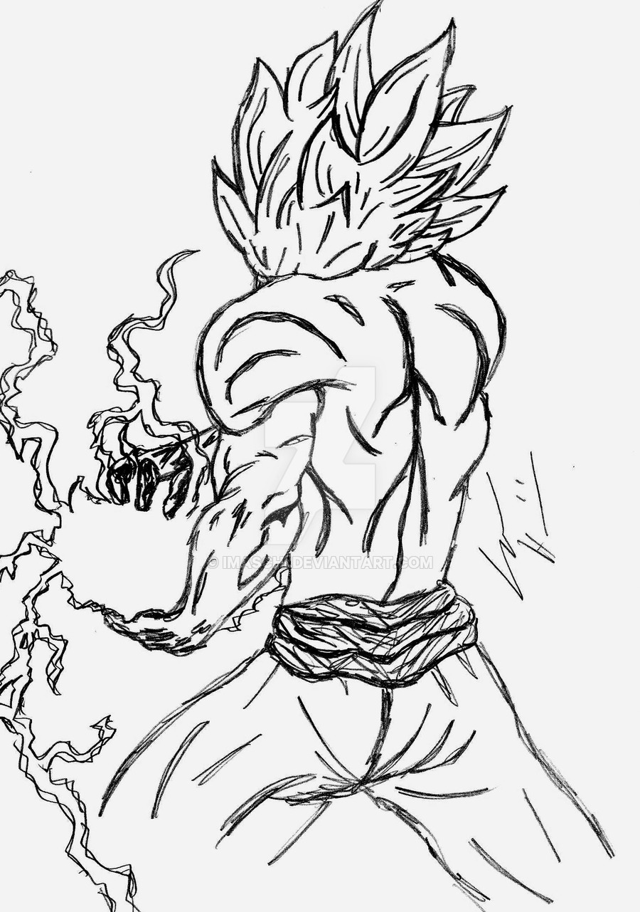 900x1281 Dragon Ball Goku Sketch By Imaschi