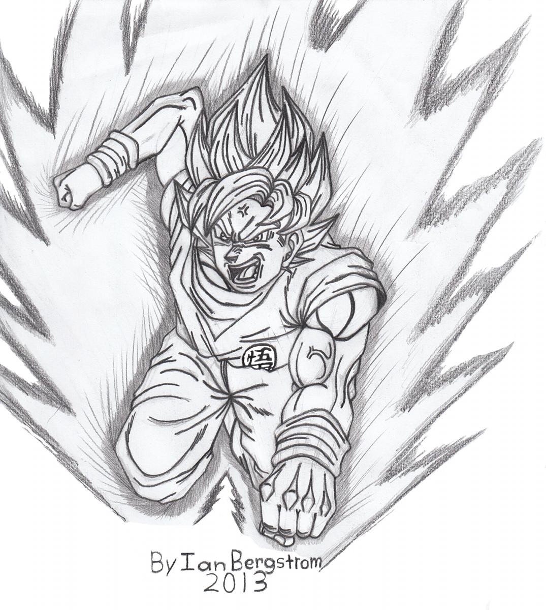 1075x1200 Dragon Ball Z Super Sayian Son Goku Fan Art By Iansart2012