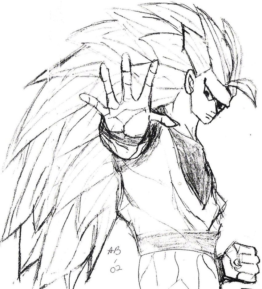 851x938 Dragonball Z Goku Sketch By Liongirl2289