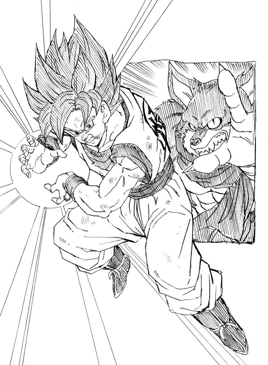 940x1280 Goku Ssgss Youngjijii Goku And Dragon Ball