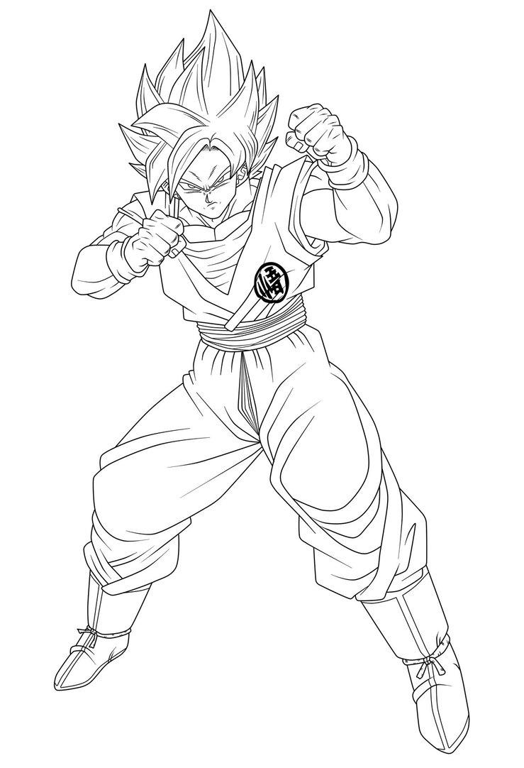 739x1082 Goku Ssgss Serio Lineart By Hiroshiianabamodder