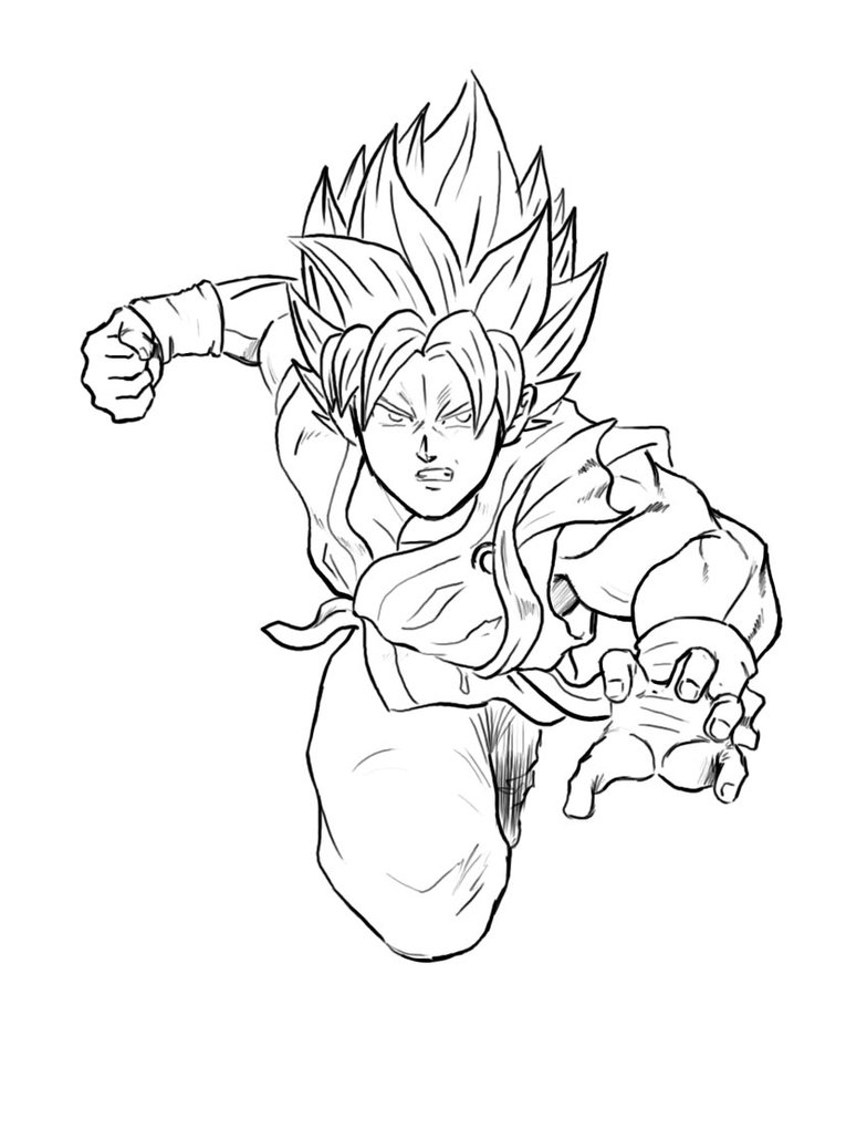 784x1020 Goku Ssgss Time Lapse By Axel2396
