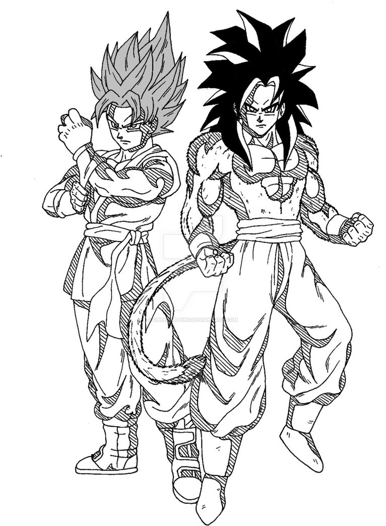 766x1043 Dbsdbgt Goku Ssgssssj4 By Cheetah King