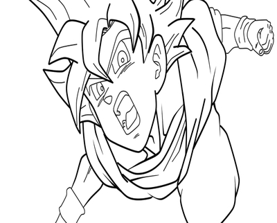 400x322 Just Goku Coloring Page Maserati Pages Another
