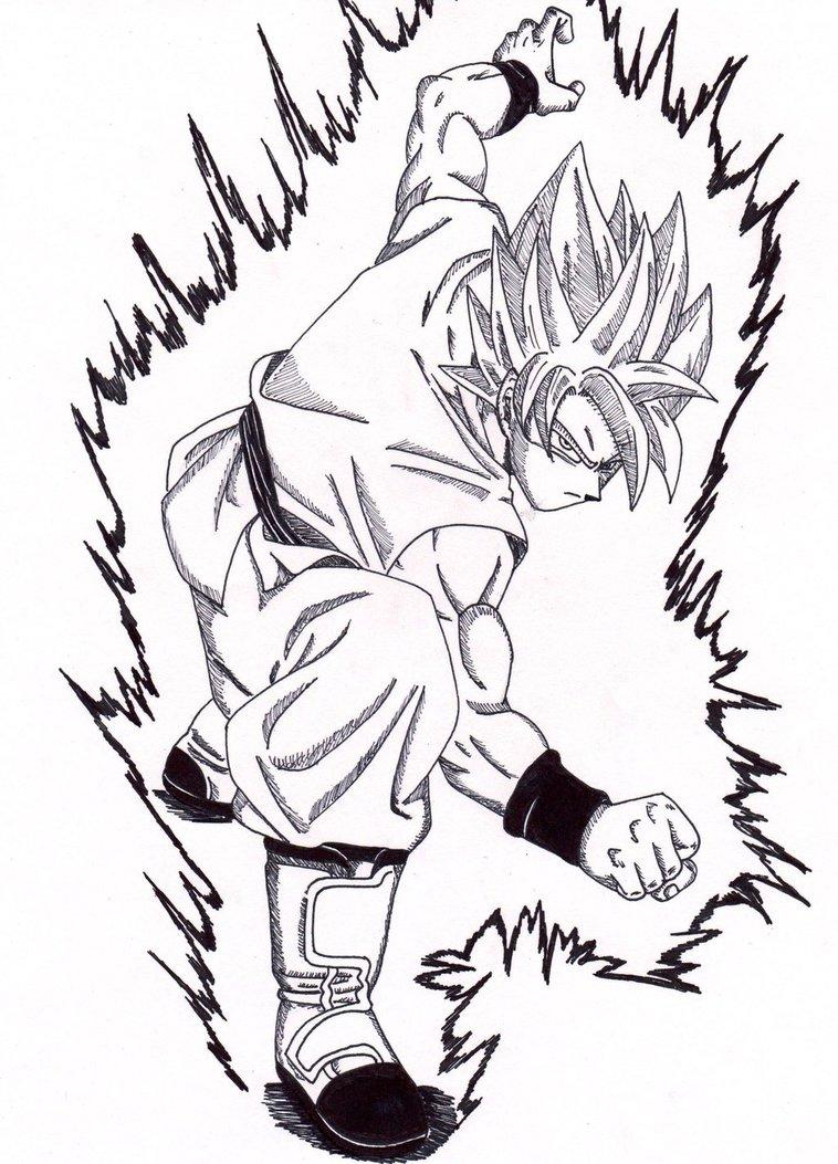 758x1053 Ssgss Goku