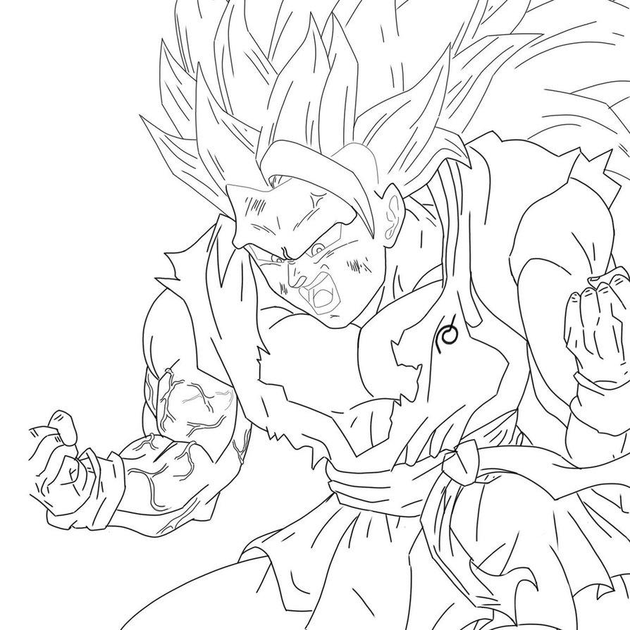894x894 Wip) Super Saiyan 3 Goku New Outfit By Earthquake2009