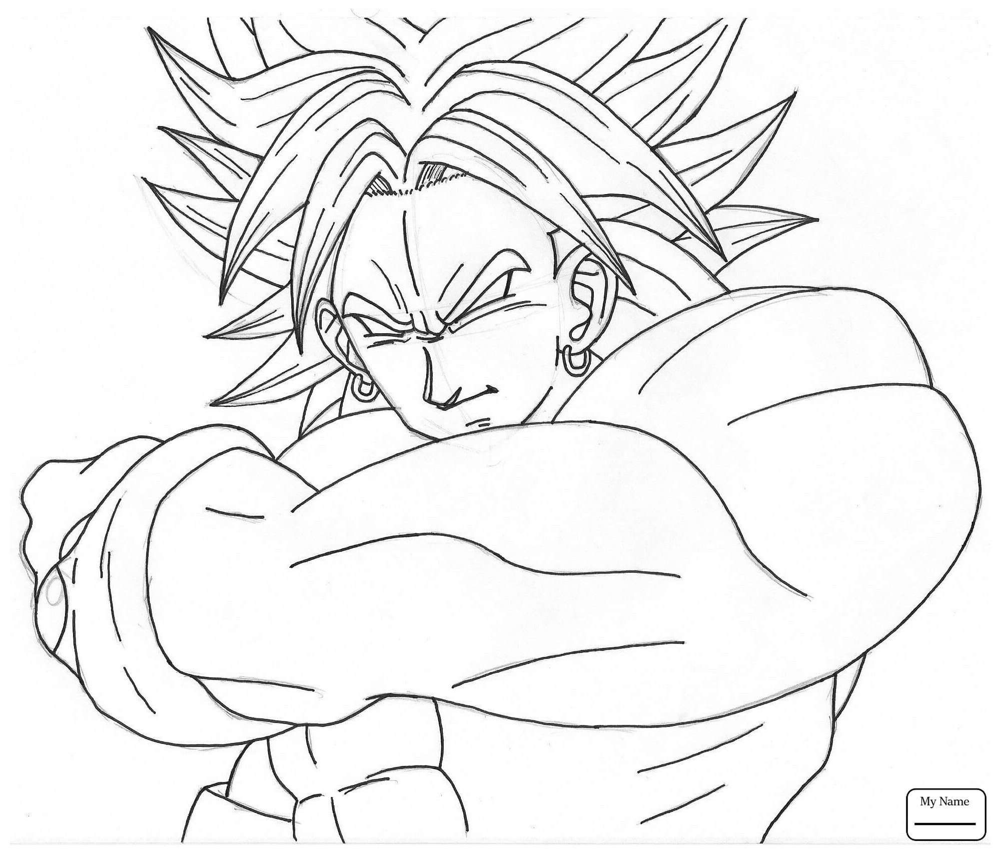 1999x1705 Dragon Ball Goku Coloring Pages Free Draw To Color