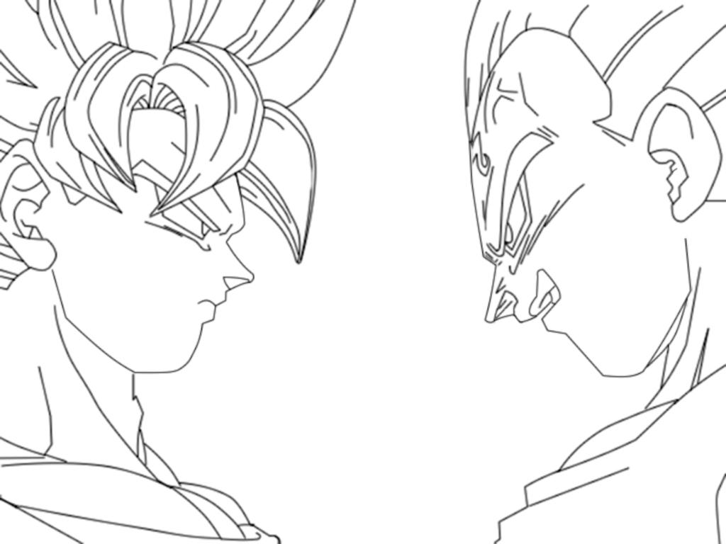 1024x768 Dragon Ball Z Goku Drawing