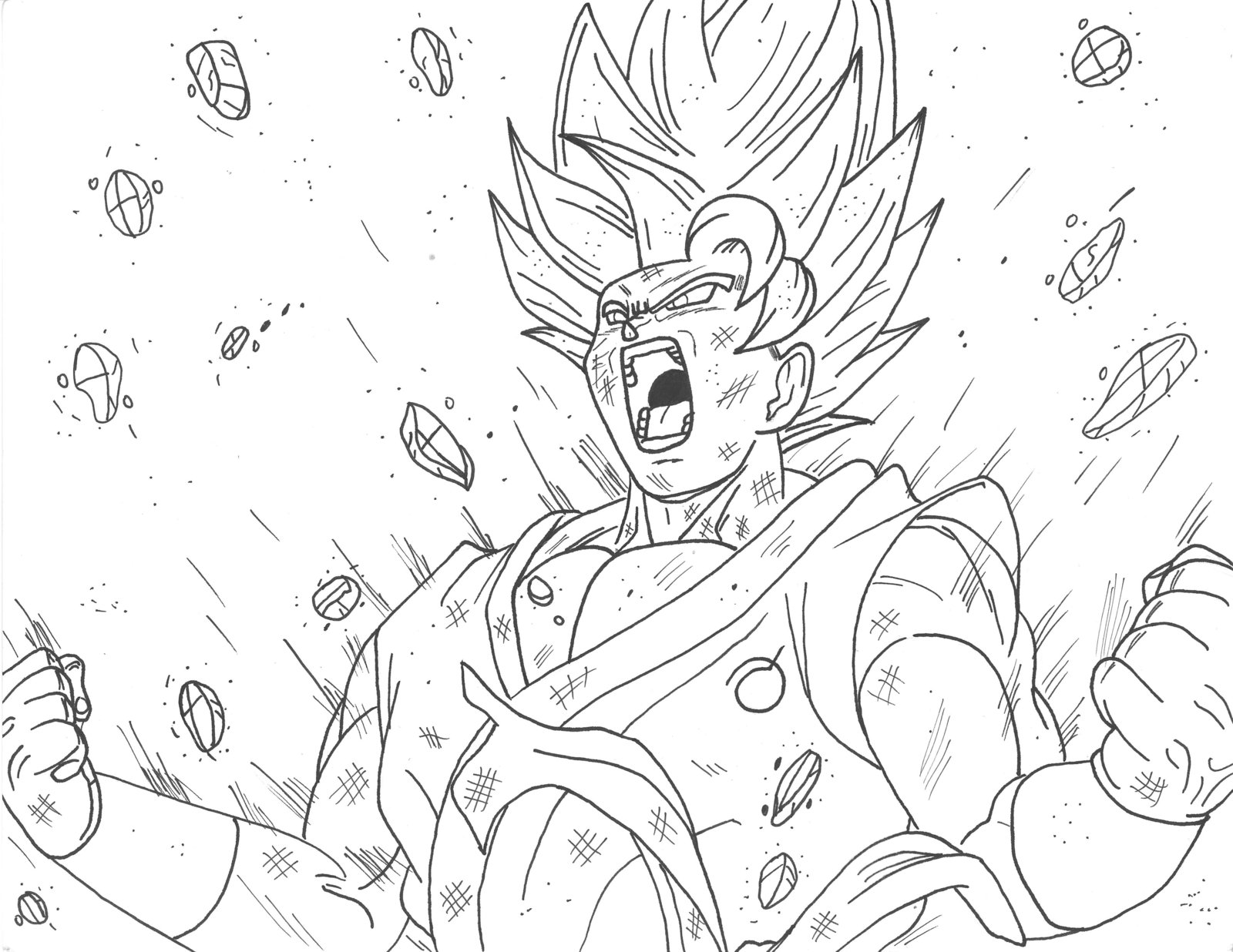 Goku Ssgss Drawing at GetDrawings