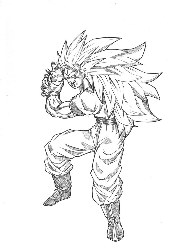 Goku Ssj Drawing At Getdrawings Com Free For Personal Use