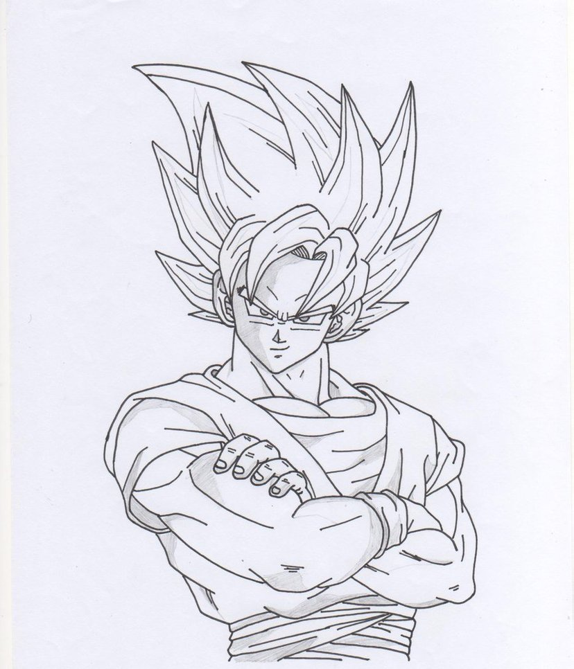 828x966 Goku Face Drawing Super Saiyan How To Draw Goku Super Saiyan 3