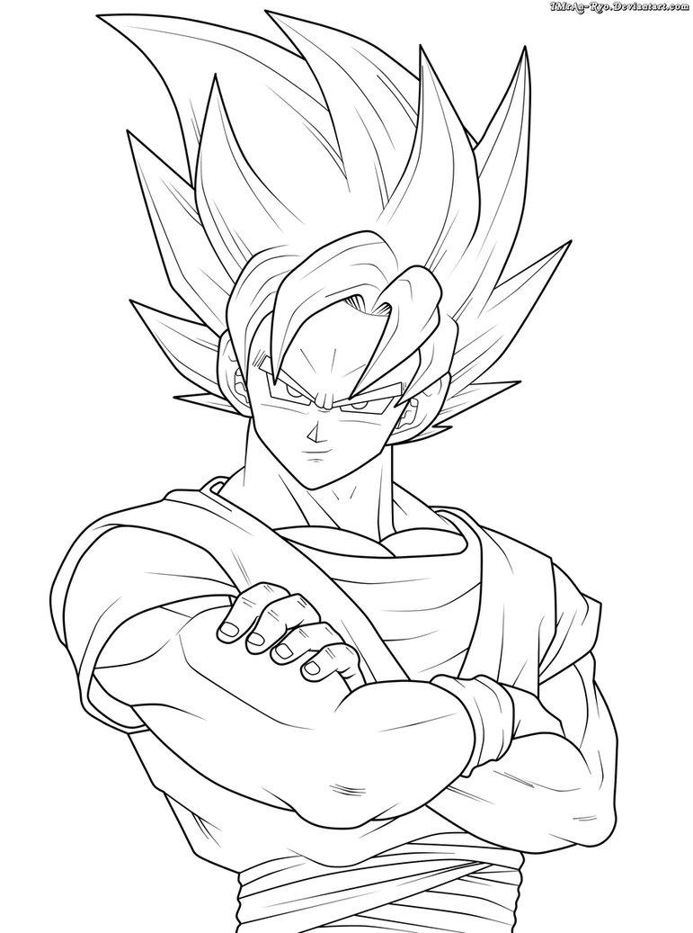771x1037 Goku Ssj2. Lineart By Imran Ryo Postacie Anime