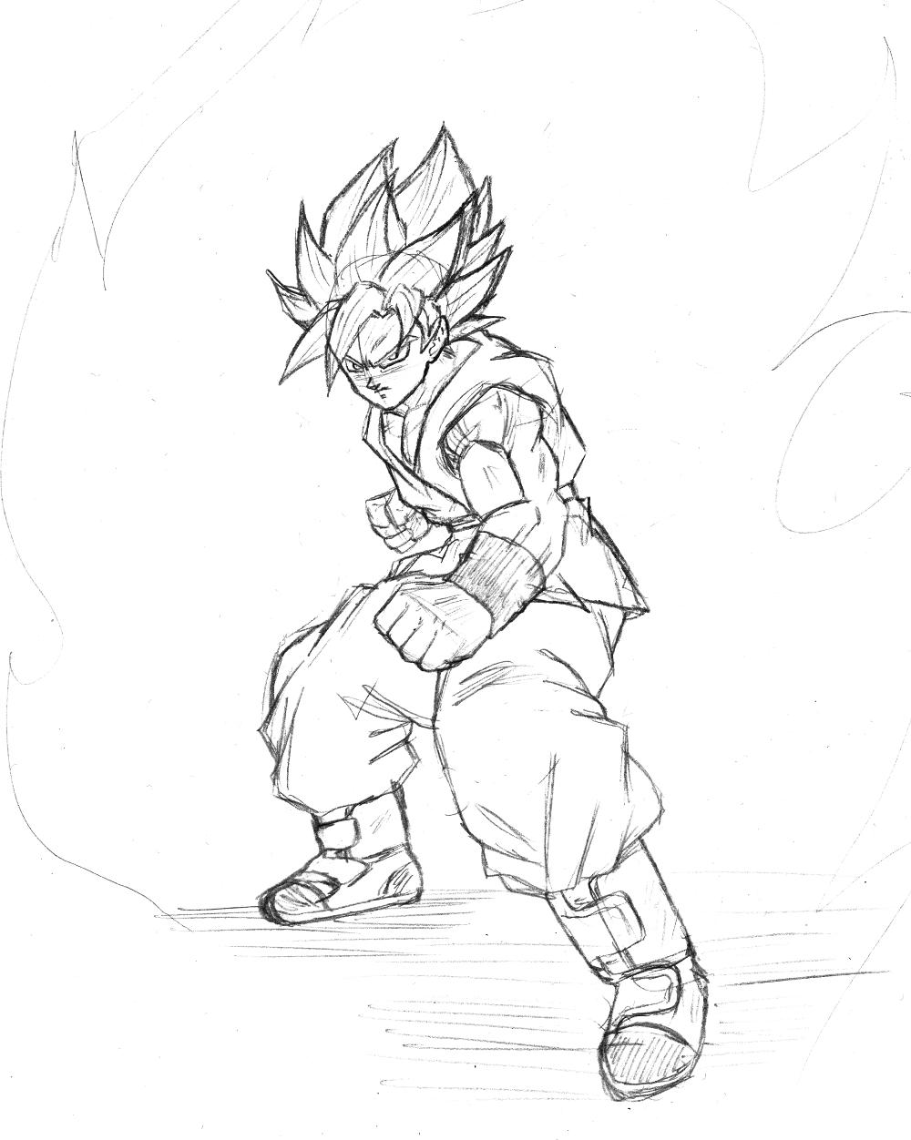 1000x1252 Son Goku Super Saiyan God Super Saiyan Sketch By Bl Sama