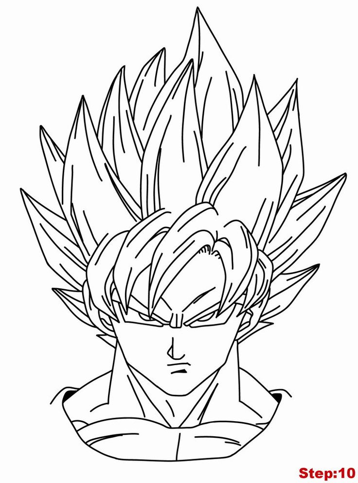 Goku Ssj3 Drawing at GetDrawings.com | Free for personal use Goku ...