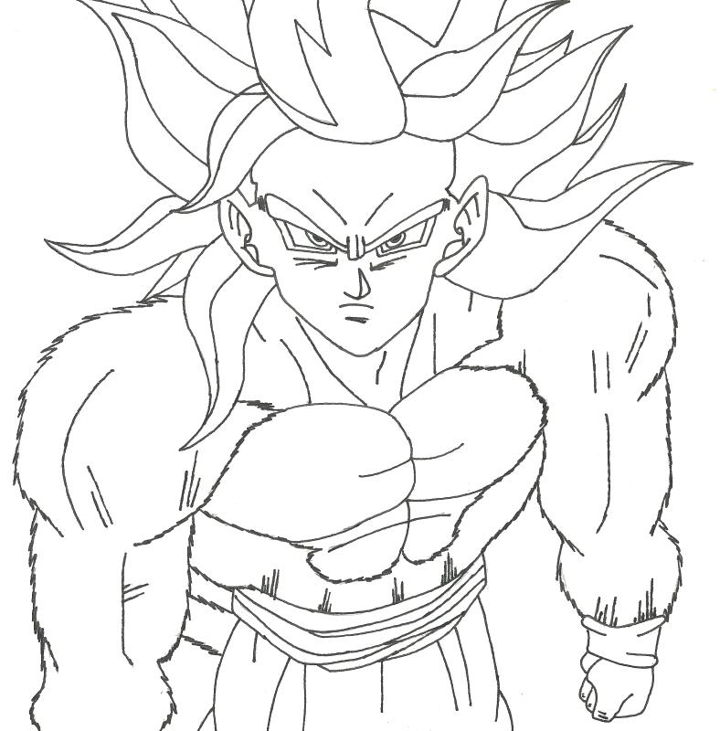 Goku Super Saiyan 2 Drawing