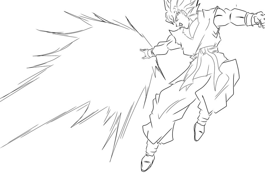 Goku Super Saiyan 2 Drawing at GetDrawings.com | Free for personal ...