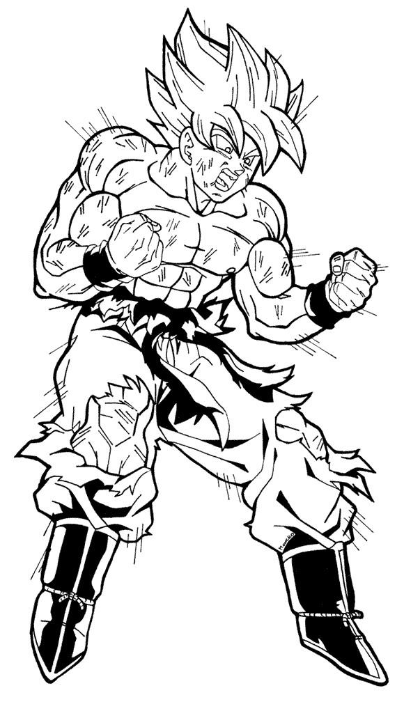 Goku Super Saiyan 2 Drawing at GetDrawings.com | Free for personal ...