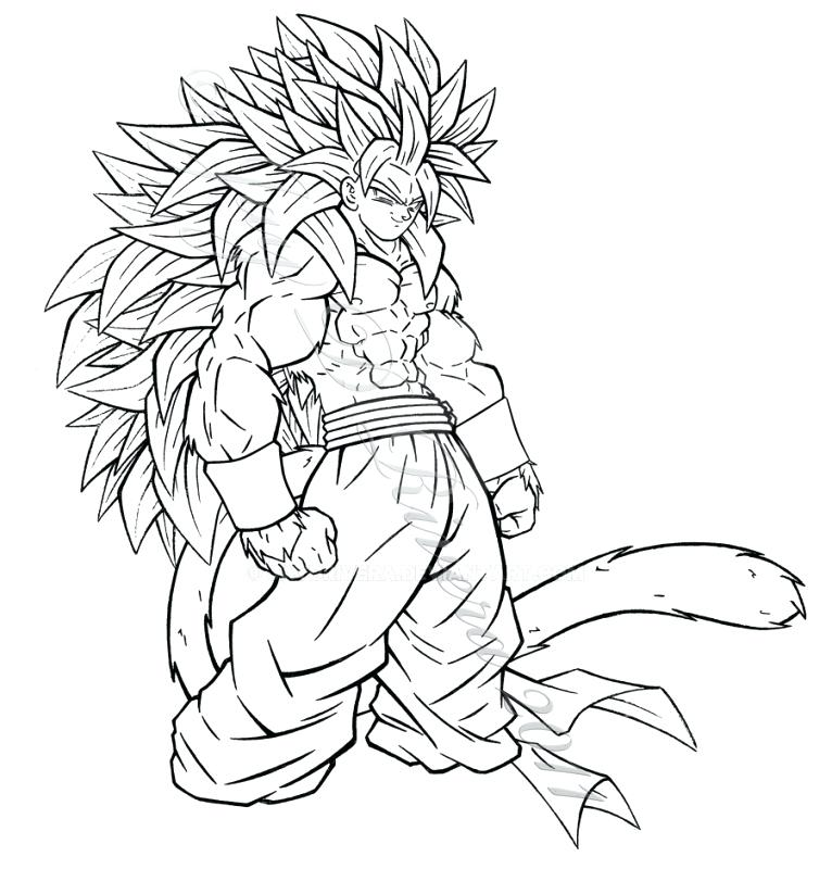 Goku Super Saiyan 3 Drawing At Getdrawings Com Free For