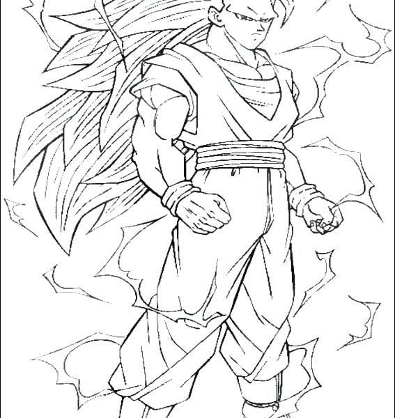 567x600 Super Saiyan Coloring Pages Super 3 Coloring Pages Goku Super