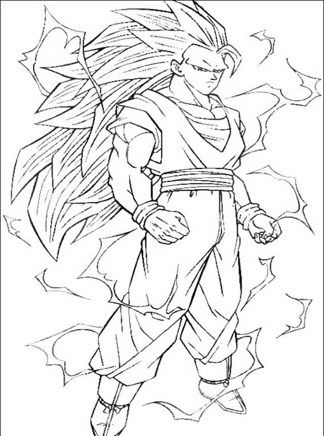 Goku Super Saiyan 3 Drawing at GetDrawings.com   Free for personal ...