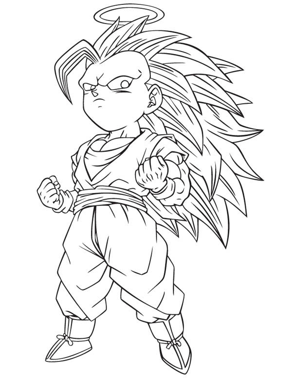 600x776 Goku Super Saiyan 3 Coloring Pages Dragon Ball Z