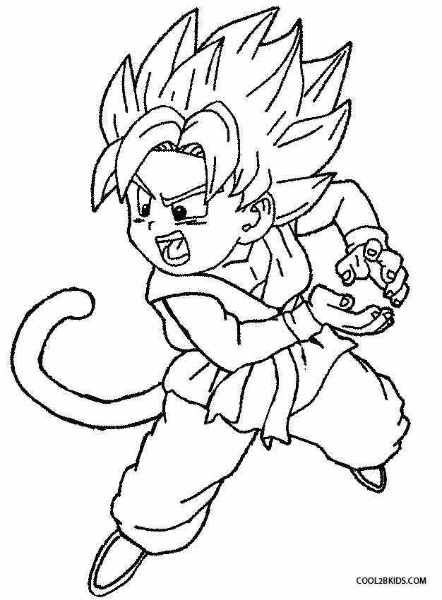 626x850 Printable Goku Coloring Pages For Kids Cool2bKids