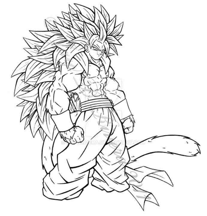 Goku Super Saiyan 4 Drawing At Getdrawings Com Free For