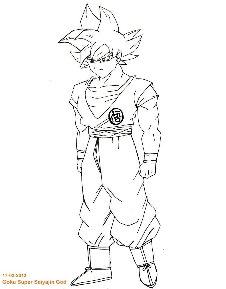 Fein Dbz Malvorlagen Goku Ssj Gott Bilder - Entry Level Resume ...