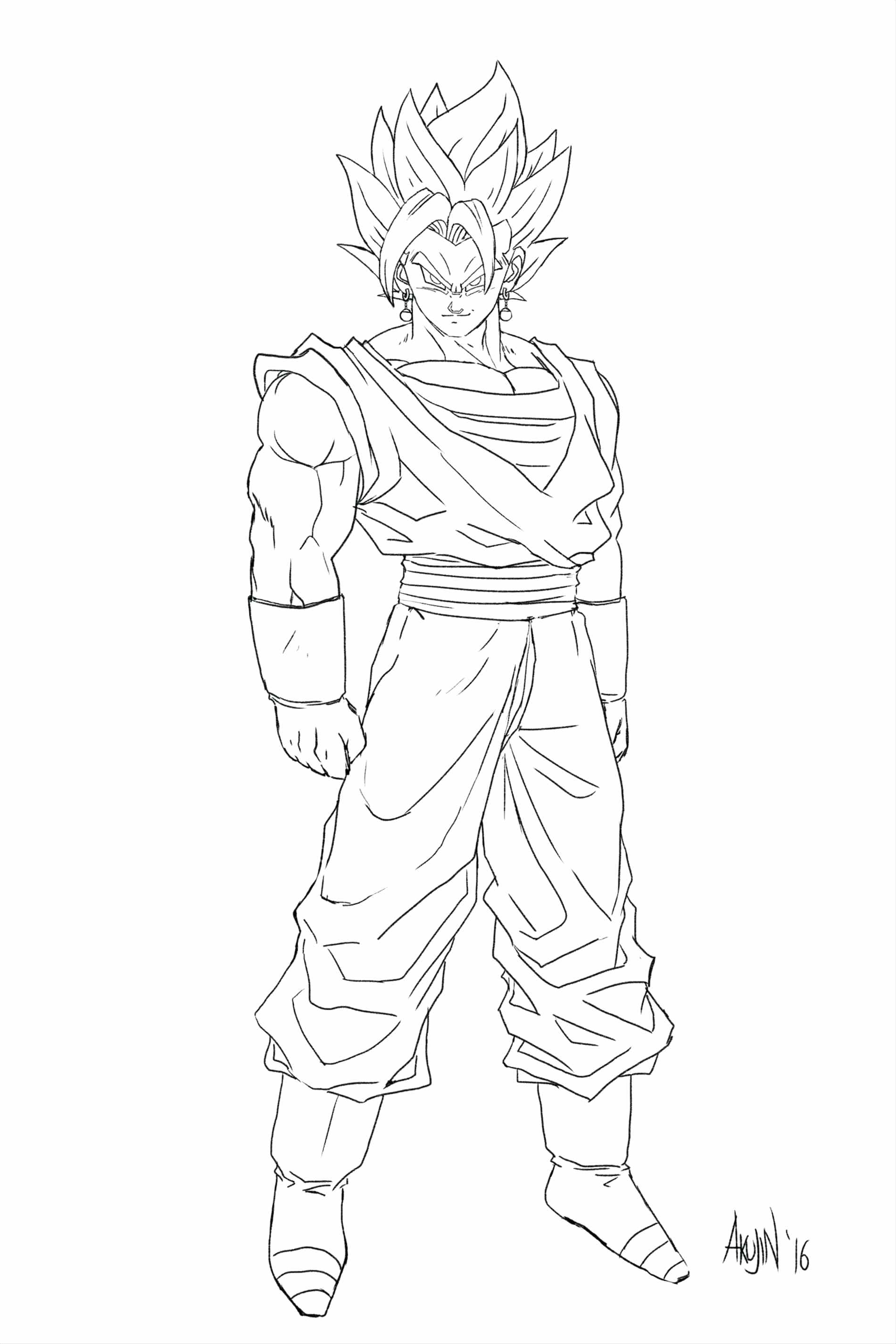 Goku Super Saiyan Drawing at GetDrawings | Free download
