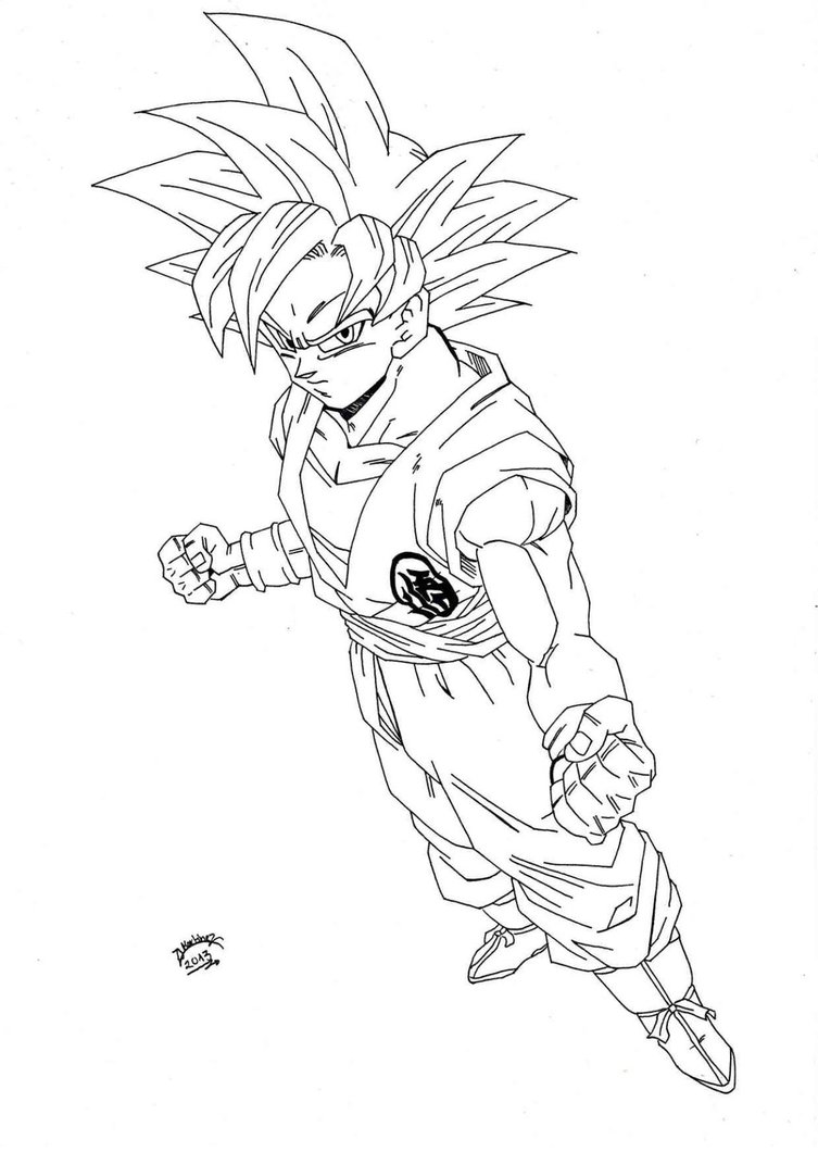 Goku Super Saiyan Drawing at GetDrawings