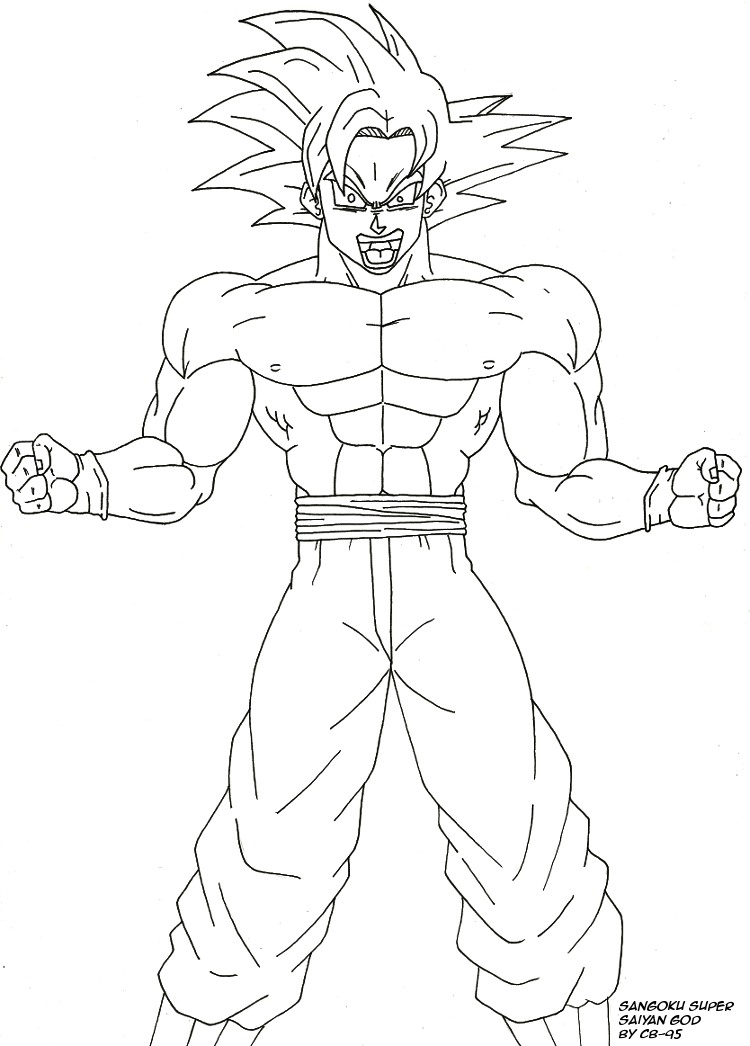Goku Super Saiyan God Drawing At Getdrawings Free Download