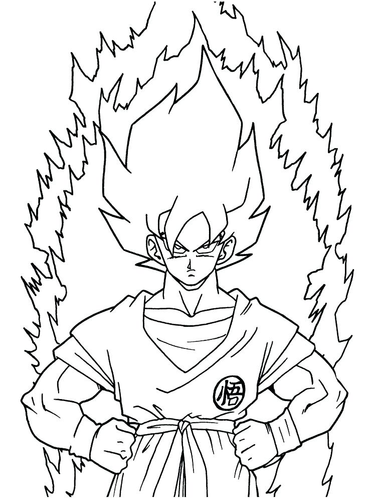 Goku Super Saiyan God Drawing at GetDrawings.com | Free for personal ...
