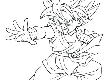 Goku Vs Vegeta Drawing