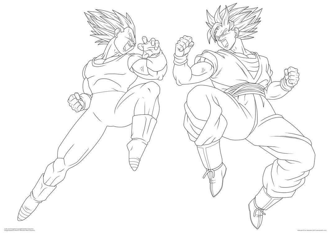 Goku Vs Vegeta Drawing At Getdrawingscom Free For