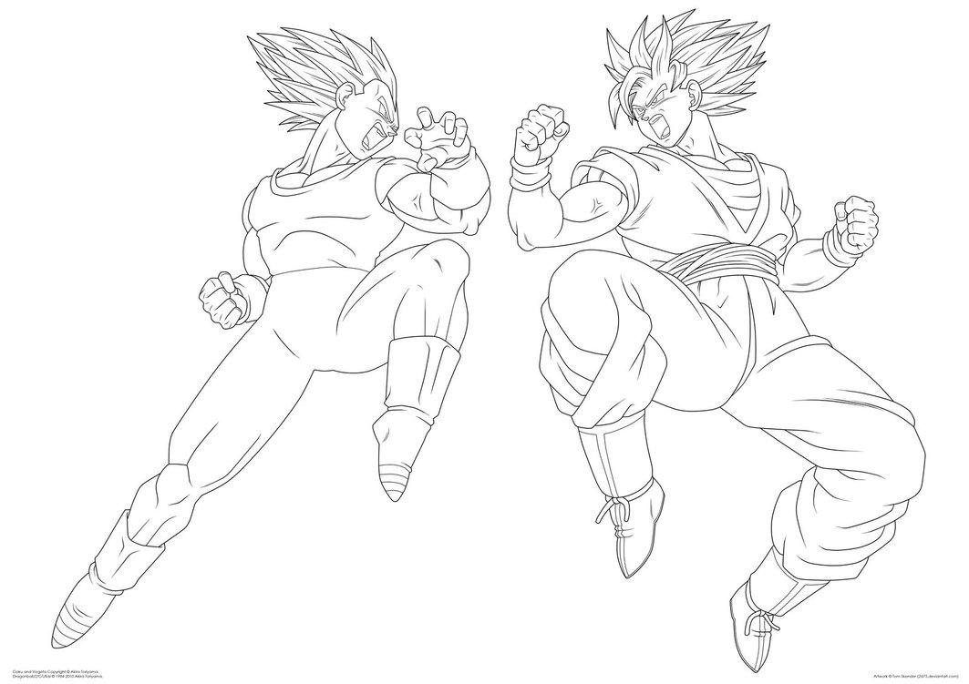 Goku Vs Vegeta Drawing At Getdrawings Free Download